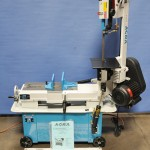 "7"" x 12"" New Acra Horizontal/Vertical Band Saw, Mdl. 712B, Coolant System, Work Length Stop, Casters, Single Phase Motor #A1667"