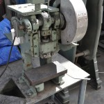 5 Ton x 1 1/4'' Used Kenco OBI Punch Press, Mdl. 5N144, Mechanical Clutch, Hand Lever Control, Stand, Single Phase #A1704