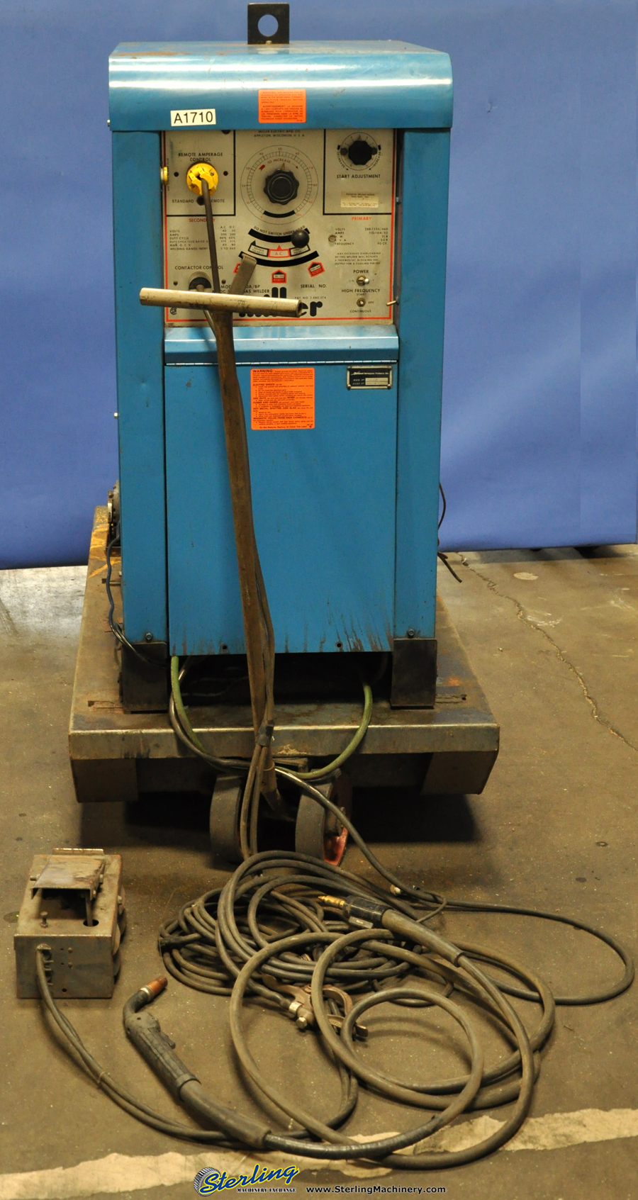A1710 300 amp used miller tig welder, mdl 330 a bp sterling machinery  at fashall.co