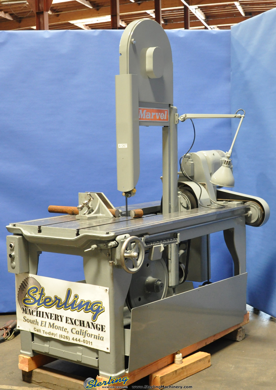 18 Used Marvel Vertical Bandsaw Mdl Series 8 M8 M3