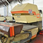 30 Ton Used Strippit Fabri-Center N/C Turret Punch, Mdl. FC1250/30/1500,Air Clutch, HECC-80 N/C Control, Lots of Tooling #A1731