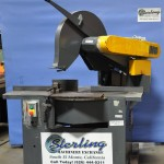 """22"""" Used Abraisive Manual Chop Saw, 6"""" Most shapes, 4"""" Solids,  Mitering, 20 H.P.  #A1738"""