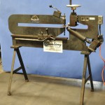 16 Ga. Used May Tool Ring & Circle Shear, Mdl. MTC-42, Rack & Pinion Feed For Tailstock, Stand (1989) #A1755
