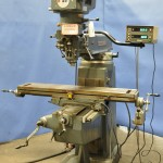 """9"""" x 48"""" Used Lagun Vertical Milling Machine, Mdl. FTV-2, Mitutoyo 2 Axis Digital Readout, Table Power Feed #A1759"""