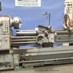 """17""""/26"""" x 60"""" Used Sharp Gap Bed Lathe, Mdl. 1760, 2 Axis Digital Readout, 3 Jaw Chuck, Steady Rest, Coolant, Foot Brake, 7.5 H.P. #A1771"""