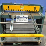 "20 Ga. x 37"" Used Enco Metal Cutting Foot Shear, Mdl. 130-5370, Front Supports, Rear Operated Manual Backgauge (1995) #A1773"