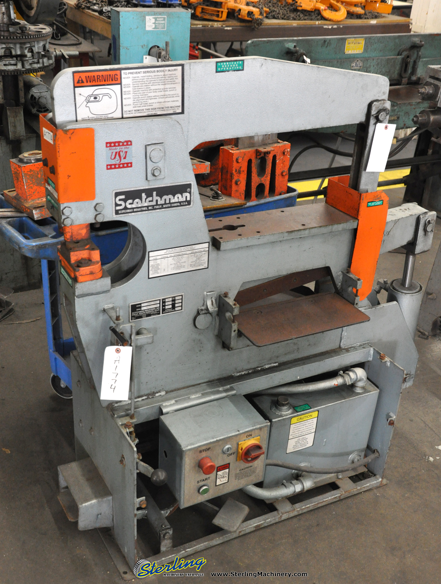 Scotchman Ironworker for Sale http://blog.sterlingmachinery.com/?tag=40-ton-used-scotchman-hydraulic-ironworker