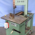 """13"""" Used Roubax Verticut Vertical Roll- In Band Saw, Mdl. 115B, Single Phase, 30"""" x 18"""" Table#9516"""
