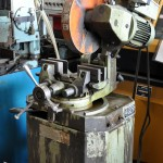 14'' Used Scotchman Cold Saw, Mdl. 350L1, Quick Acting Vise, Coolant System, 2 Speeds for Cutting Steel, Mitering #A1746