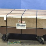 """96"""" x 48"""" x 14"""" Used Starrett Master Pink Granite Surface Plate Grade """"A"""", Mdl. 864410, Stand With Casters #A1803"""