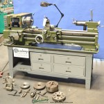 "12"" x 36"" Used Jet Engine Lathe, Mdl. 1236 PY, 3 Jaw Chuck, 4 Jaw Chuck, Drill Chuck, Table, Steady Rest #A1820"