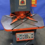 """1/4"""" x 8"""" x 8"""" Used Amada Hydraulic Notcher, Mdl. CSH - 220, Work Guides, Continuous Operation with Timer, Manual Adjustment #8986"""