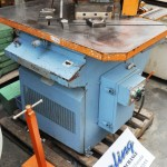 """1/4"""" x 10"""" Used Comaca Dual Hydraulic Notcher, Mdl. 25016, 2 Notching Stations, Twin Work Guides, Remote Electric Foot Pedal (1988) #A1293"""