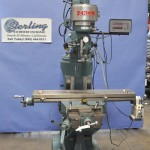 """9"""" x 42"""" Used Enco Vertical Milling Machine (Step Pulley Type Head), Mdl. 100-1527, Table Feed, 2 Axis Digital Readout, Z Readout, Year (1996) #A1903"""