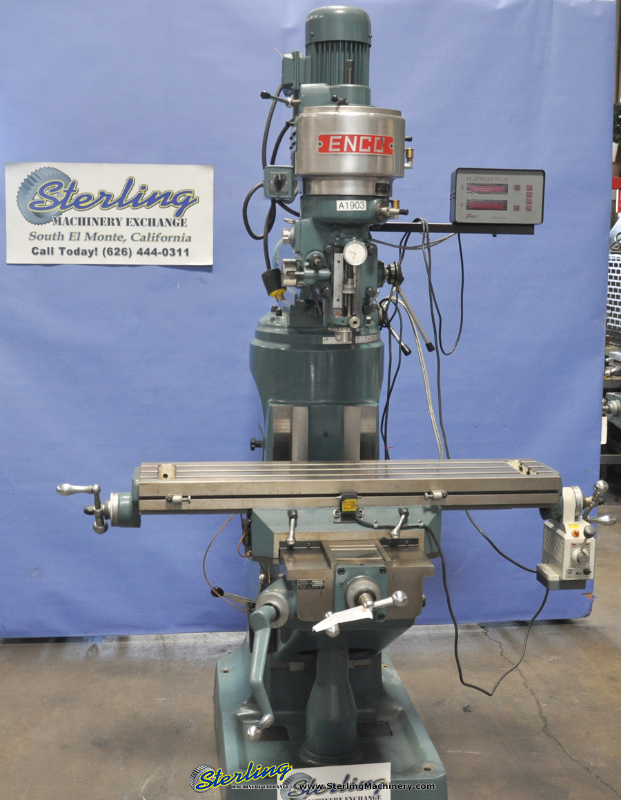 42″ Used Enco Vertical Milling Machine (Step Pulley Type Head ...