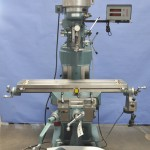 """09"""" x 42"""" Used Enco Vertical Milling Machine (Step Pulley Type Head), Mdl. 100-1527, Digital Readout, Power Feed, Year (1997) #A1907"""