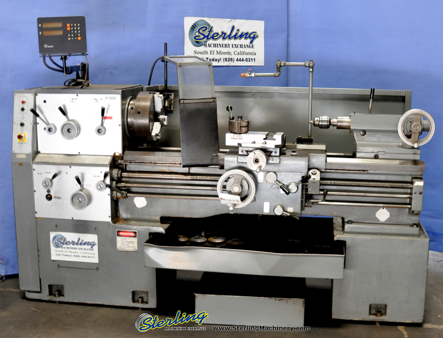 Engine Lathe, Mdl. 16-3x40, Heidehain 2 Axis Digital Readout, 3 Jaw Chuck, Tool Post, Taper Attachment, Coolant  #A1998