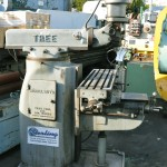 "10.5"" x 42"" Used Tree Vertical Mill, Mdl. 2UVR, Geared Table Power Feed, One Shot Lube System, Horsepower: 1 1/2,  #A2047"