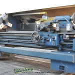 """22"""" x 80"""" Used Graziano Engine Lathe, Mdl. Sag 22, Copy Rite Tracer Attachment, Multi Fix Suisse Quick Change Tool Post Set, 3 Jaw Chuck, Face Plate, Trav-A-Dial, Coolant, Work Light, Splash Guard, Steady Rest, Follow Rest, Chip Tray,  #A2066"""