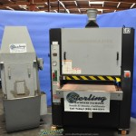 "36"" Used Timesaver Grindmaster Belt Grinder W/ Wet Dust Collector, Mdl. Grindmaster 2000, Digital Height Gauge, Air Tracking On Conveyor Belt, Single Head, Load Meter, Emergency Stop, Cat 5 Wet Dust Collector,  Year (1995)  #A2120"