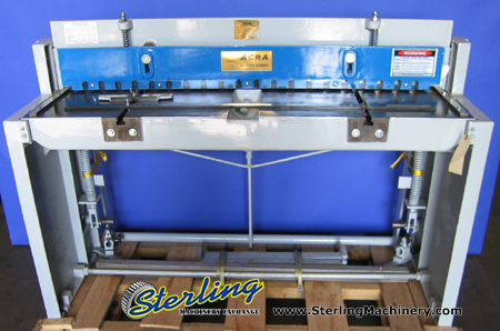 16 Ga. x 4' Brand New Acra Foot Shear, Mdl. FS- F5216, Rear Operated Manual Back Gauge, Front Supports,  #FS-F5216