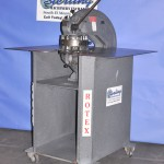 "2"" Used Rotex Hand Turret Punch, Mdl. 18- BK, Punch & Dies, Shear Cut- Off, Stand,  Dies from 1/8"" to 2"" #A2143"