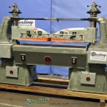 "20 Ton Used Schwabe Twin Head Hydraulic Clicker Press, Mdl. Twin-AB, 60"" x 30"" Table, Dual Palm Control On Both Rams, Separate Controls For Single Or Dual Operation, #A2640"