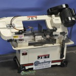 """7"""" x 12"""" Used Jet Horizontal Bandsaw, Mdl. HVBS-7MW, Roller Cabinet With Built-in Chip Tray, #A2666"""