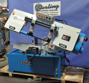"Brand New Acra Variable Speed ""Swivel Head"" Horizontal ""Heavy Duty"" Bandsaw"