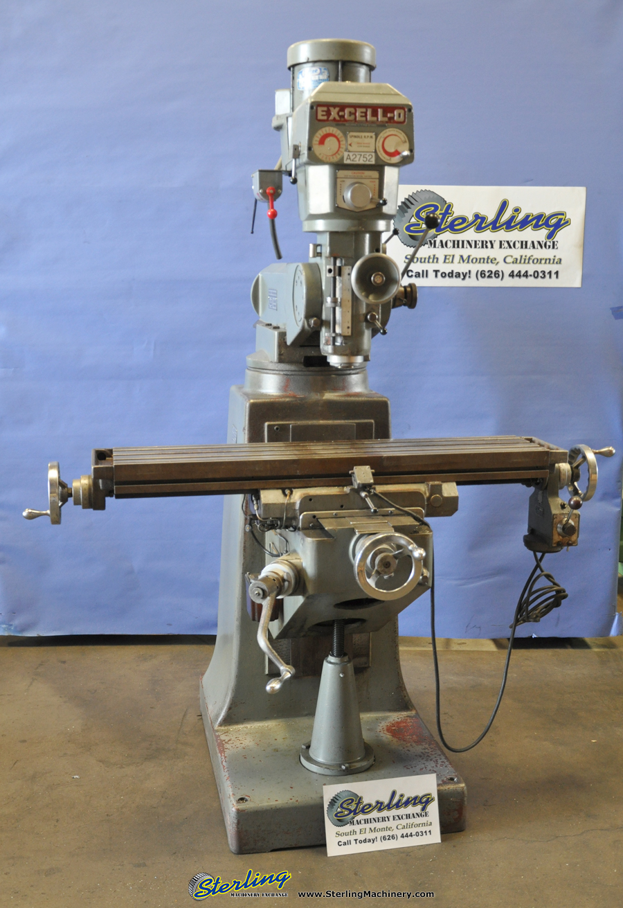 Used Ex Cell O Variable Speed Vertical Milling Machine