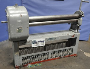 Used Niagara Initial Pinch MANUAL POWER HAND Sheet Metal Plate Roll
