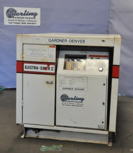 Used Gardner Denver Electra Saver Turn Valve Rotary Screw Air Compressor