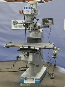 Brand New Acra (Variable Speed) Milling Machine With Digital Readout and Table Power Feed