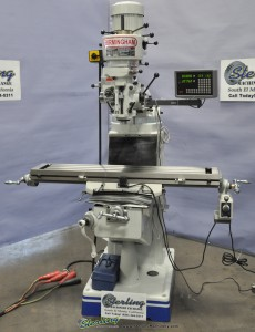 Brand New Birmingham (Step Pulley) Milling Machine With Digital Readout and Power Table Feed