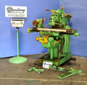 Used Kearney & Trecker Horizontal Mill With Vertical Milling Head Attachment