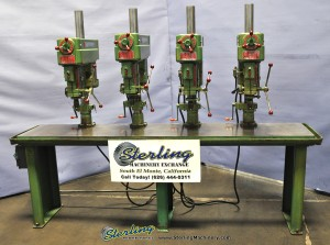 Used Powermatic 4 Head Gang Drill Press With Large Table
