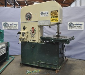 Used DoALL Vertical Deep Throat (Heavy Duty) Bandsaw With Hydraulic Power Table Feed and Tilt