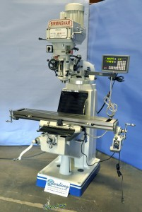 Brand New Birmingham (VARIABLE SPEED) Vertical Milling Machine WITH DIGITAL READOUT AND POWERED TABLE FEED INCLUDED