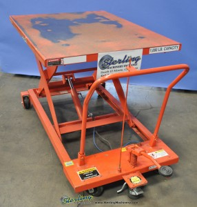 Used Presto Mobile Manual Scissors Lift Table