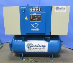 Used Quincy Rotary Screw with Sound Enclosure Air Compressor