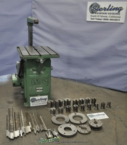 Used Davis Manual Keyseater, Loaded With Tooling
