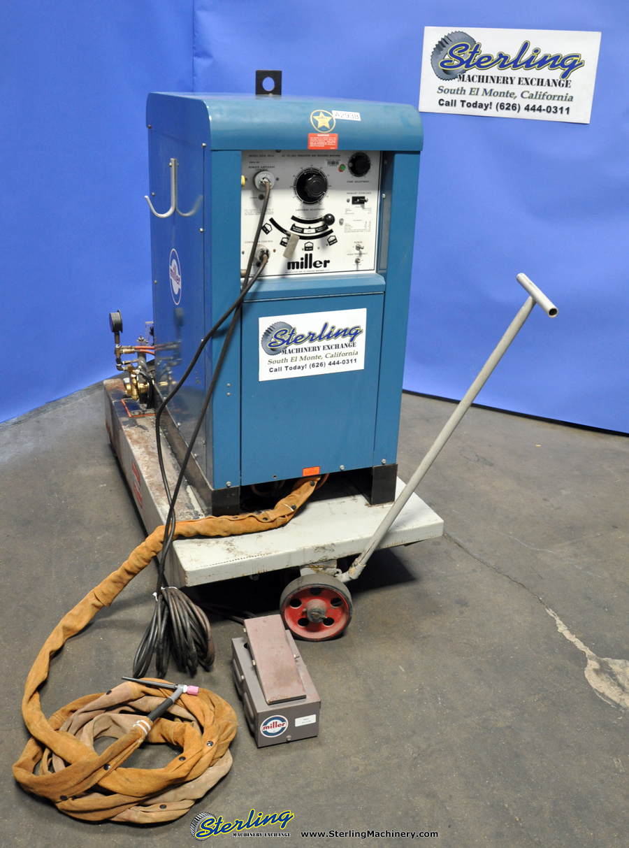 a2938 used miller ac dc gas tungsten arc welding machine sterling  at fashall.co