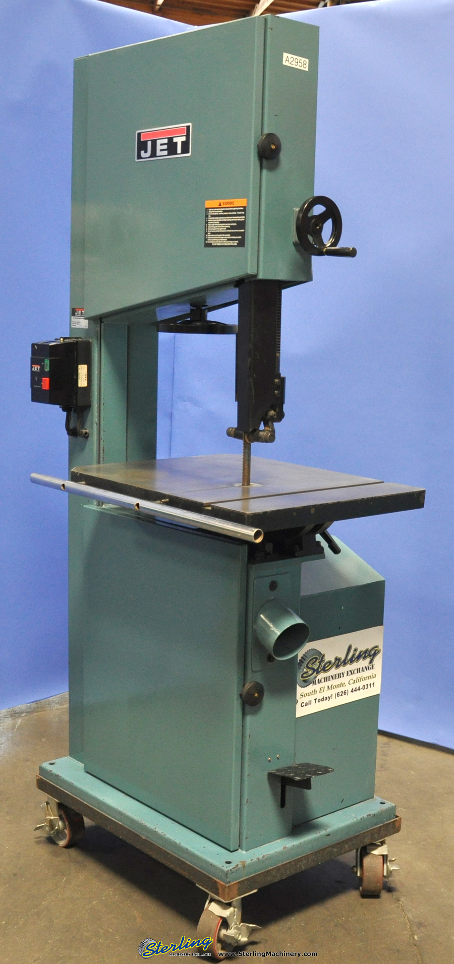 Used Jet Vertical Bandsaw (Woodworking) - Sterling ...