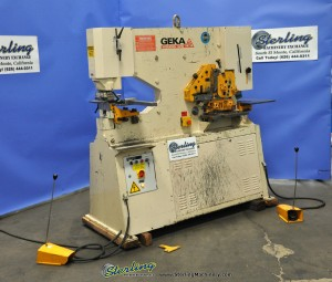 Used Geka Hydraulic (DUAL OPERATION EXTENDED THROAT) Ironworker