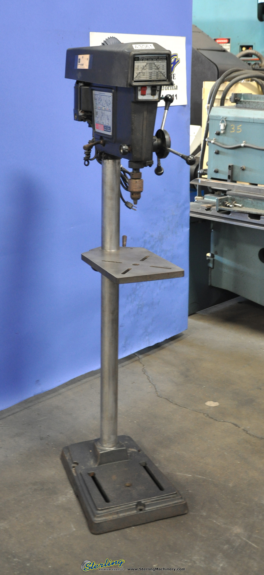 Used craftsman floor drill press sterling machinery for Craftsman flooring