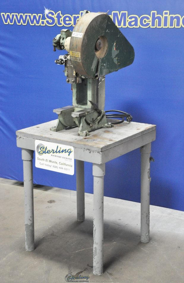 5 Ton x 1″ Used Benchmaster Punch Press, Mdl  152, Stand