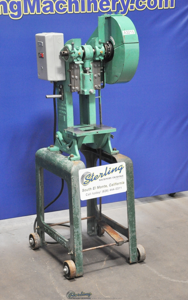 5 Ton X 1 Used Benchmaster Punch Press Mdl 151e Stand