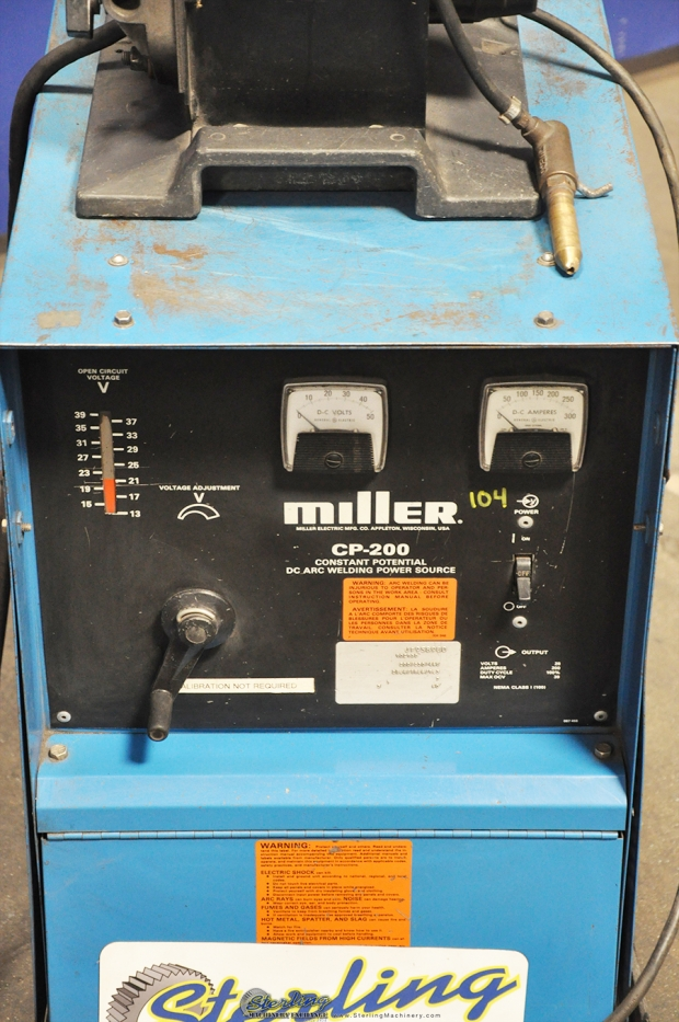 200 Amp Power Cable : Amp used miller dc power mig welder with millermatic