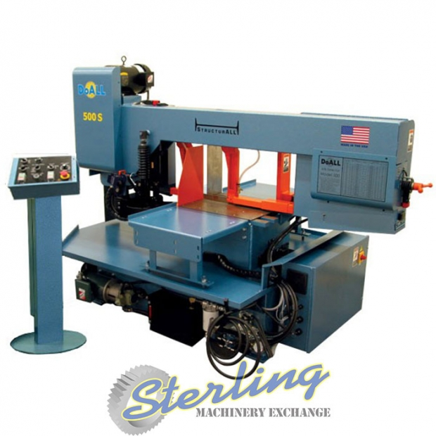 20 Quot X 14 Quot Brand New Doall Swivel Head Hydraulic Miter Metal Cutting Horizontal Bandsaw Mdl 500 S Remote Control Console Manual And Semi