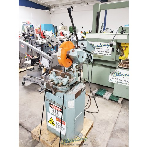 used-scotchman-low-turn-manual-vise-and-manual-down-feed-circular-cold-saw-for-cutting-steel-stainless-aluminum-brass-copper-plastics-cpo-350-lt